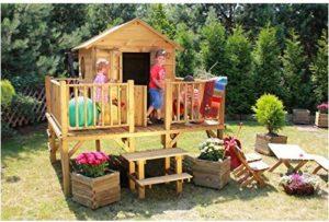 Spielhaus-Kinder-Gartenhaus-Gartenspielhaus-Stelzenhaus