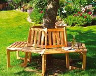Baummbank Holz achteckig
