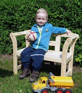 Garten Kinderbank Teakholz Friesenbank mit Kind