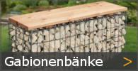 Gabionenbank Gartenbank Gabione Sortiment entdecken