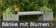 Gartenbank Holz mit Blumenkasten Blumenkübel Pflanzkübel Sortiment entdecken