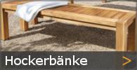 Hockerbank Holz Gartenbank ohne Lehne Sortiment entdecken