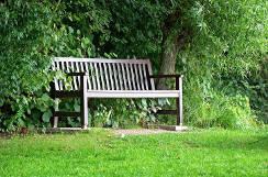 Richtiger Standort für die Gartenbank Holz im Garten