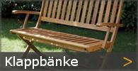 Klappbank Gartenbank Holz Sortiment entdecken
