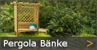 Pergolabank Rosenbank Gartenbank Holz Sortiment entdecken