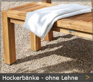 Garten Hockerbank ohne Rückenlehne