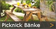 Picknickbank Gartenbank Garnitur Sortiment entdecken