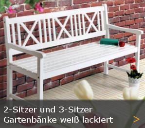 Gartenbank weiß Sylter Friesenbank Sortiment entdecken