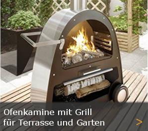 Gartenkamin Terrassenofen Terrassenkamin mit Grill Sortiment entdecken