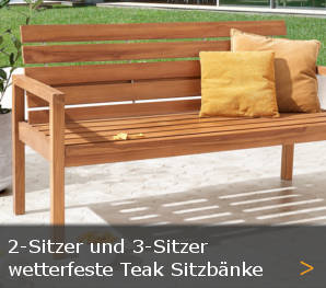 teak gartenbank holz sitzbank holzgartenbank teakholz sortiment. Black Bedroom Furniture Sets. Home Design Ideas