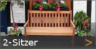 2-Sitzer Gartenbank Holz Sortiment entdecken