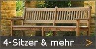 4-Sitzer Gartenbank Holz Sortiment entdecken