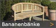 Bananenbank Teakholz Gartenbank Sortiment entdecken