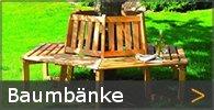 Baumbank Gartenbank Holz rund eckig